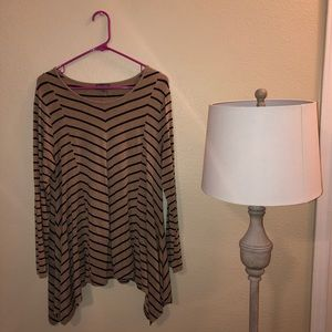 Vince Camuto striped flowy tunic shirt rn51323